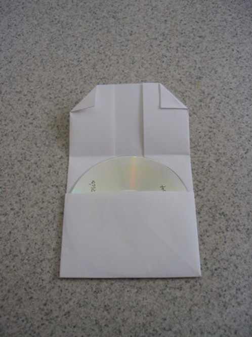 how to make a folded paper cd case i love to cook