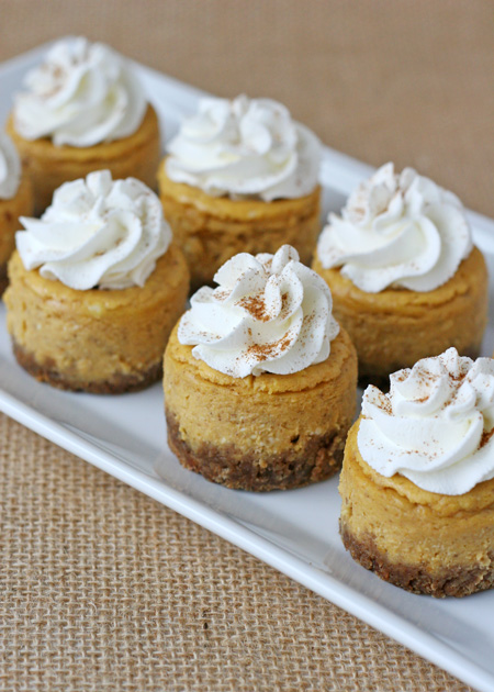 Mini Pumpkin Cheesecake | I Love To Cook