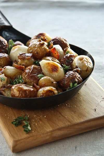 Roasted Potatoes with Bacon, Pearl Onions and Sherry Vinegar : I Love ...
