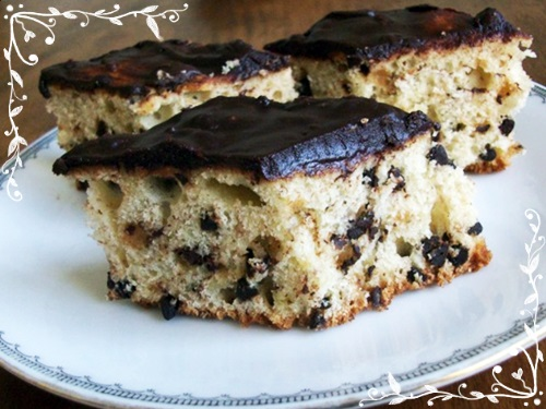 banana bread with chocolate