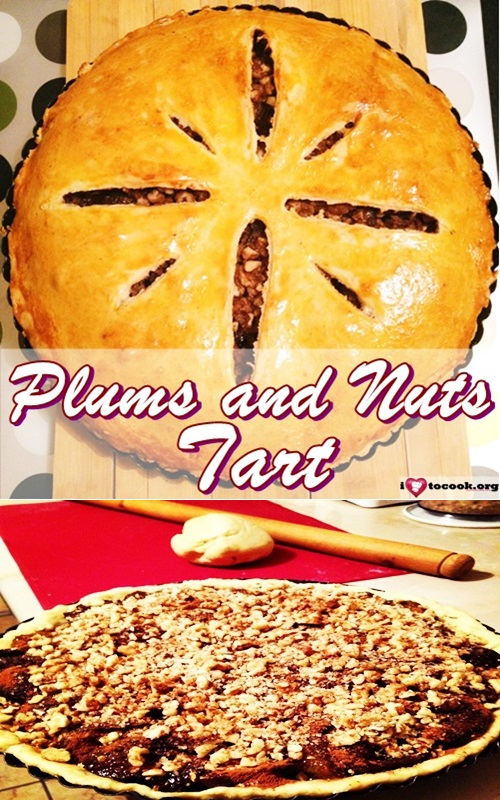 Plums and Nuts Tart recipe